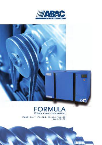 FORMULA Rotary screw compressors