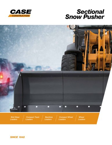 Sectional Snow Pusher