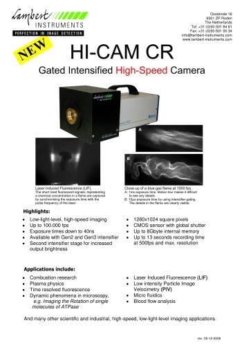 HI-CAM CR Gated Intensified High-Speed Camera
