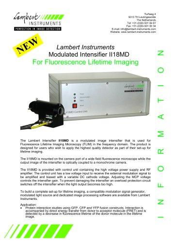 Lambert Instruments Modulated Intensifier II 18MD for Fluorescence Lifetime Imaging