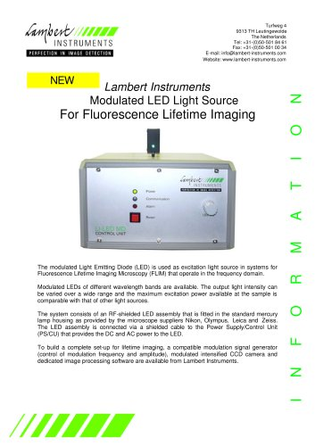 Modulated LED Light Source For Fluorescence Lifetime Imaging