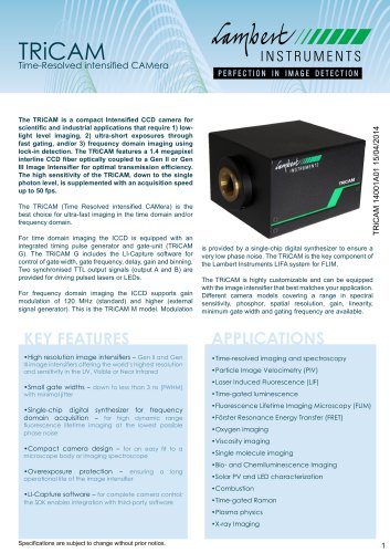 TRiCAM Specification