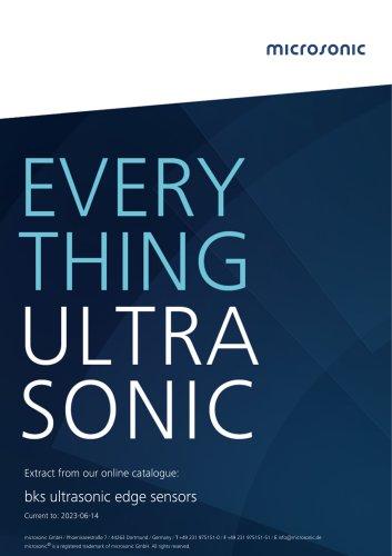 bks ultrasonic edge sensors