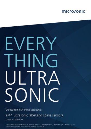 esf-1 ultrasonic label and splice sensors