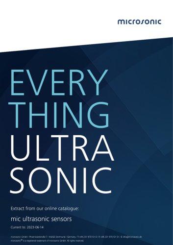 mic ultrasonic sensors