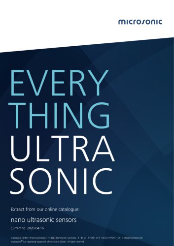 nano M12 ultrasonic sensor