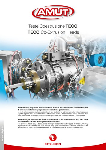 COEXTRUSION HEADS SERIES TECO FOR PIPES