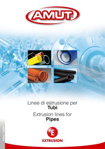 EXTRUSION LINES FOR PIPES