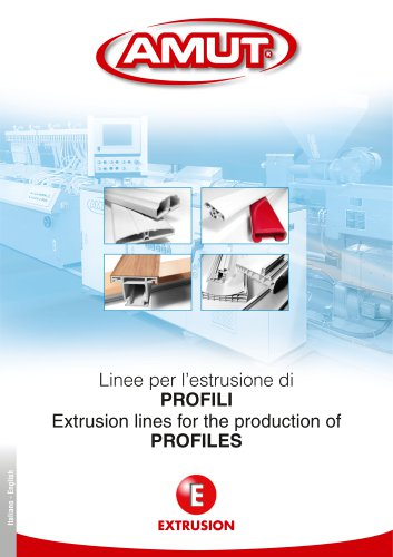 Extrusion lines for the production of proFileS