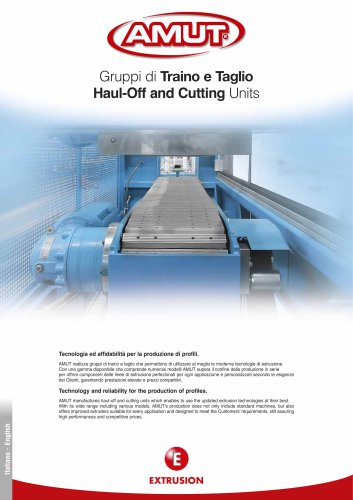 HAUL-OFF & CUTTING UNITS FOR PROFILES