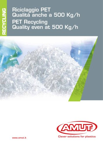 PET RECYCLING AT 500 KG