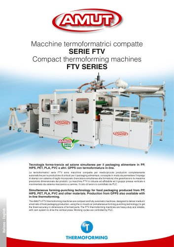 THERMOFORMING MACHINES SERIES FTV