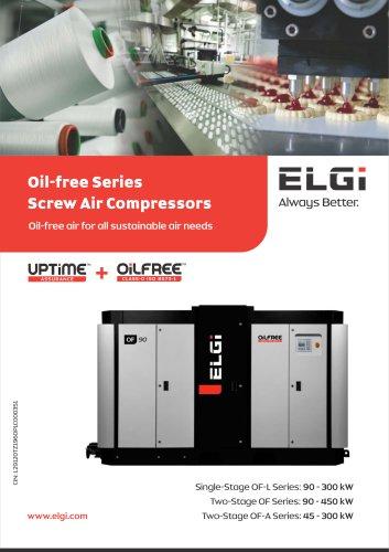 ELECTRIC OIL FREE SCREW COMPRESSOR 45–450 KW