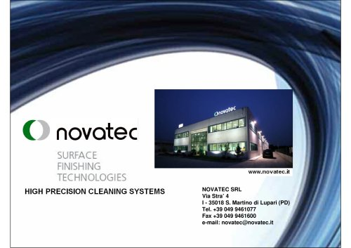 Novatec General Brochure