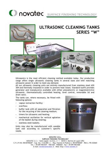 "Standard Ultrasonic Cleaning Tanks Series ""W"""