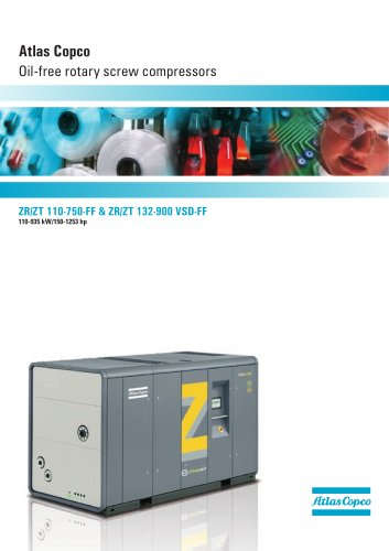 Atlas Copco Oil-free rotary screw compressors 110-935 kW/150-1253 hp