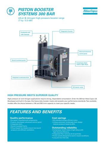 LB air & nitrogen high-pressure booster range