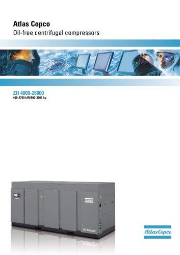 ZH 4000-26000 Atlas Copco Oil-free centrifugal compressors 400-2750 kW/500-3500 hp