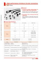 High performance miniature circular connectors HR10 Series