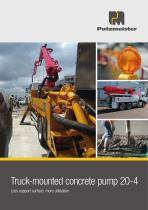 Truck-mounted concrete pump 20-4