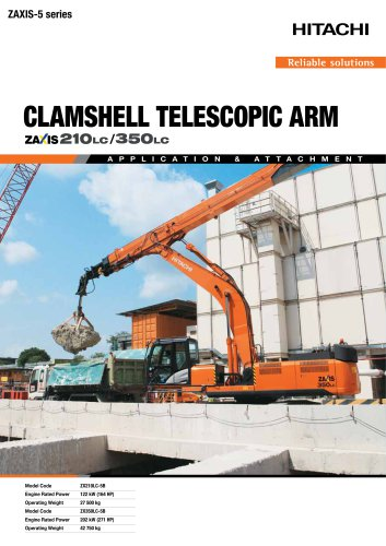 CLAMSHELL TELESCOPIC ARM ZAXIS 210LC/350LC
