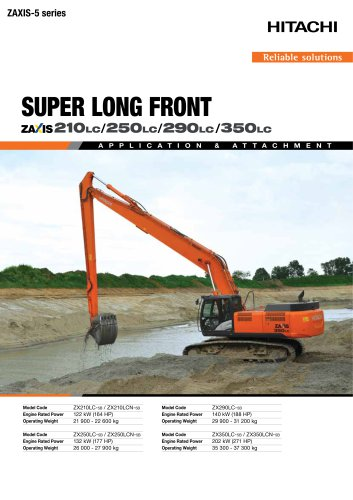 SUPER LONG FRONT ZAXIS 210LC/250LC/290LC/350LC