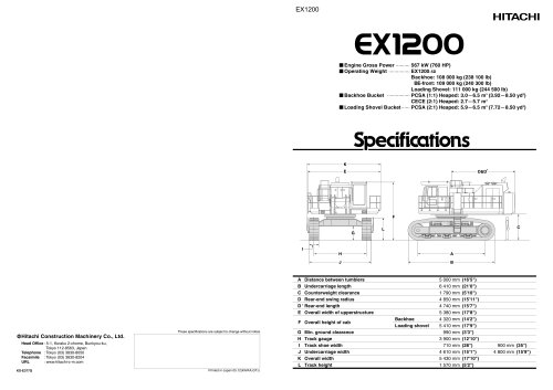 EX1200 specification