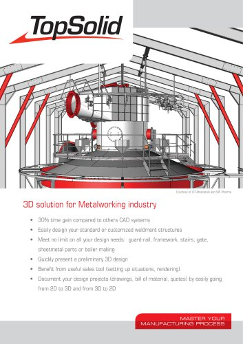 3D solution for Metalworking industry