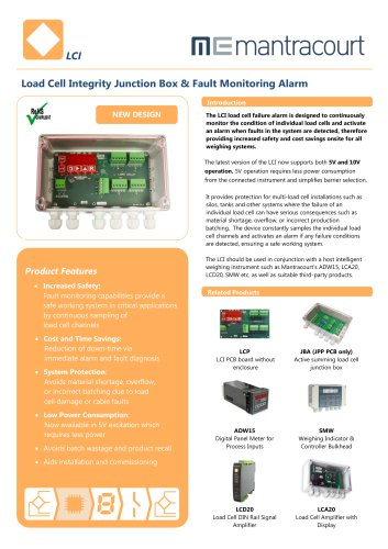 Load Cell Integrity Junction Box & Fault Monitoring Alarm