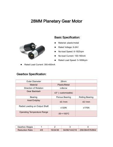DC motor datesheet 28mm 5-1500rpm,0-10Nm,12v,24v,3v,9v
