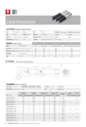 DC motor ZWPD006006