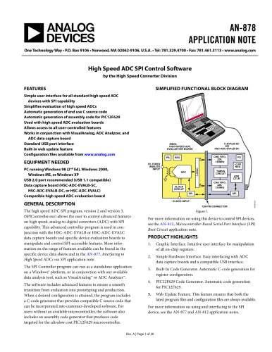 High Speed ADC SPI Control Software