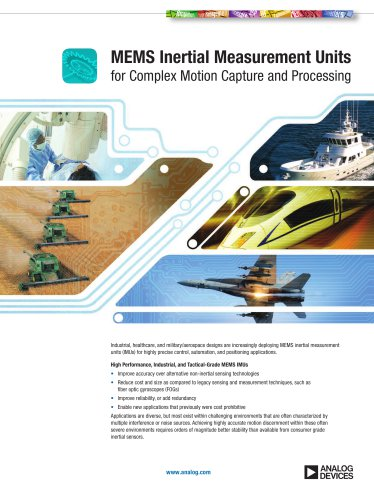 iSensor MEMS Inertial Measurement Unit (IMU) Brochure