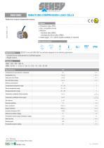 5960-5962 : MINIATURE COMPRESSION LOAD CELLS