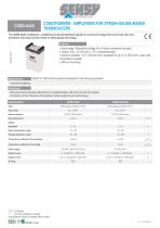 COND-A420 : CONDITIONERS - AMPLIFIERS FOR STRAIN-GAUGE-BASED TRANSDUCTERS