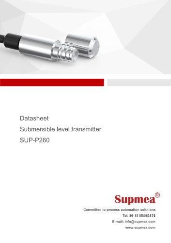 SUP-P260 Submersible level transmitter