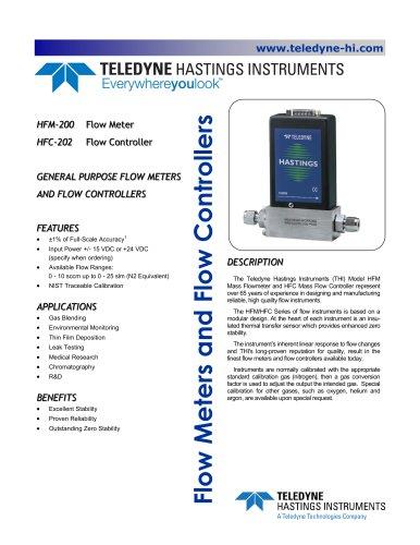 HFM-200 Flow Meter / HFC-202 Flow Controller