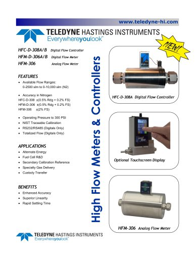high flow meters & controllers
