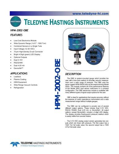 HPM 2002 OBE, Digital Vacuum Gauge