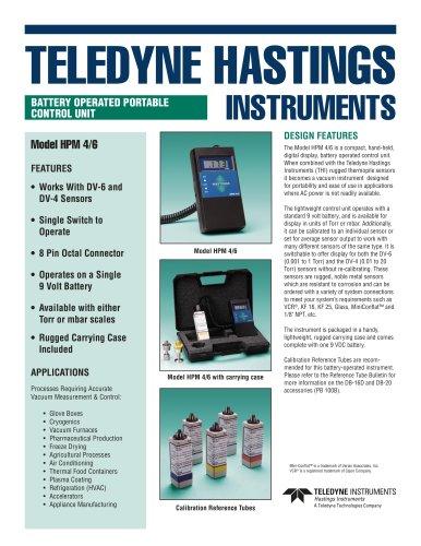 HPM 4/6 portable, dual range vacuum gauge