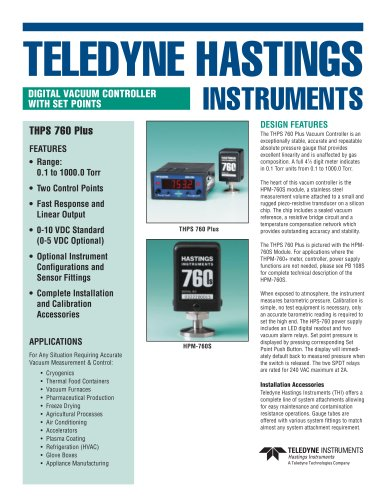 HPS-760 Power supply/digital vacuum meter
