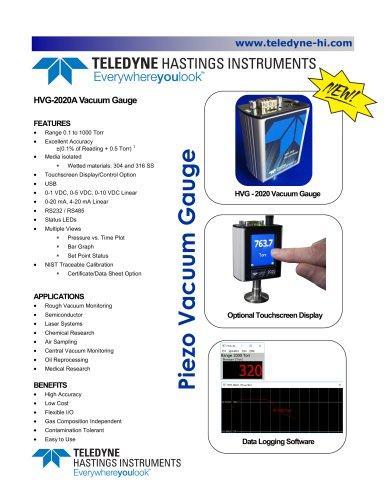 HVG-2020A Vacuum Meter  Bulletin