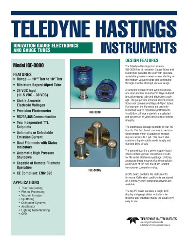 IGE 3000, Digital ionization vacuum gauge