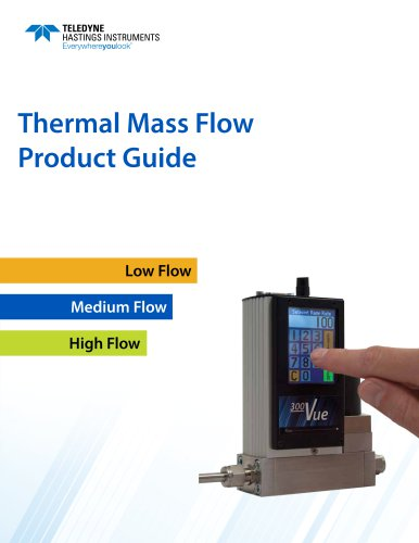 Thermal Mass Flow Product Guide