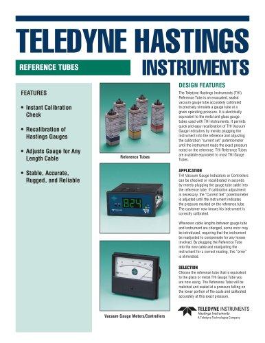 Vacuum calibration reference tubes