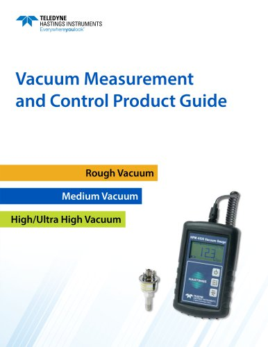 Vacuum Measurement and Control Product Guide