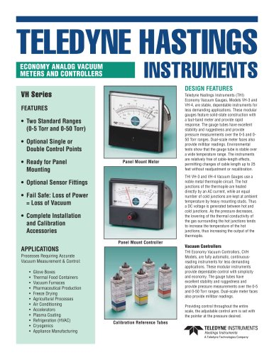 VH/CVH vacuum gauge/controller