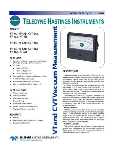 VT & CVT Vacuum Meter / Controller Series