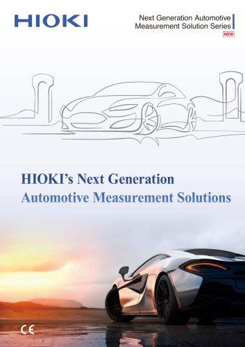 HIOKI's Next Generation Automotive Measurement Solutions