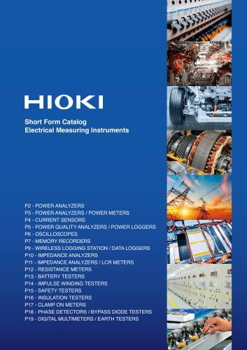 HIOKI Overview Catalog